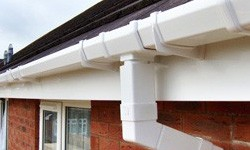 White downpipes and gutters